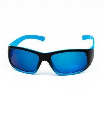 Dziecięce okulary przeciwsłoneczne z filtrami LUSTRZANKI niebiesko-czarne