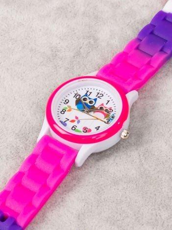 Dziecięcy trójkolorowy zegarek SOWY