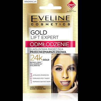 EVELINE GOLD LIFT EXPERT Luksusowa maseczka przeciwzmarszczkowa 7 ml