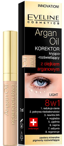 EVELINE KOREKTOR ARGAN OIL 8W1 LIGHT 7ML