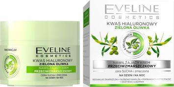 EVELINE KREM przeciwzmarszczkowy nawilżający Zielona Oliwka na dzień i na noc  50 ml