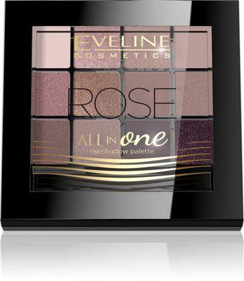 EVELINE Paleta cieni ALL IN ONE ROSE 12 g