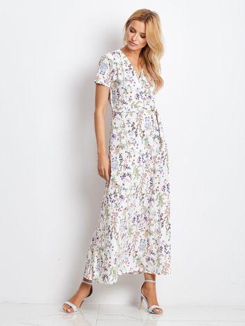 Ecru-beżowa sukienka Plenty