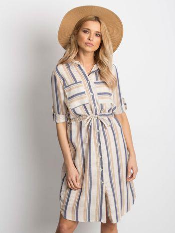 Ecru-beżowa sukienka Versatile