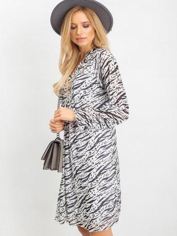 Ecru-czarna sukienka Spell