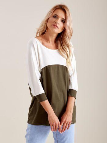 Ecru-khaki bluzka oversize