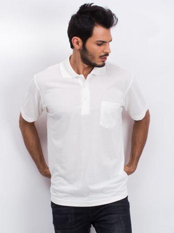 Ecru koszulka polo męska Available