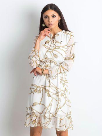 Ecru sukienka Infinite