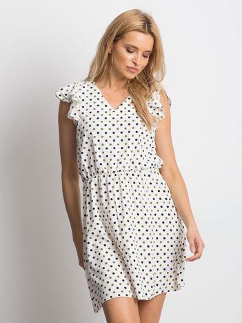 5538347d36 Ecru sukienka Meticulous