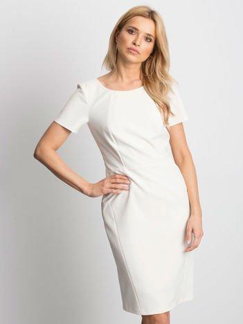5622f102ed Ecru sukienka Symmetry