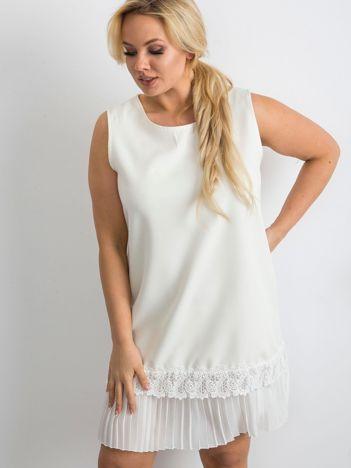 Ecru sukienka koktajlowa oversize