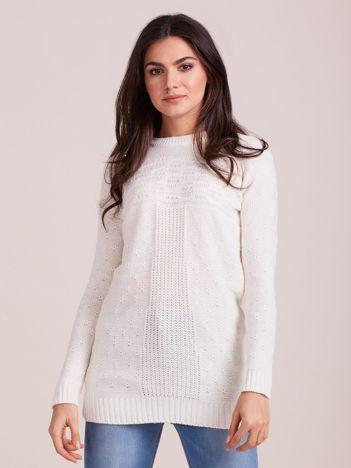 Ecru sweter damski