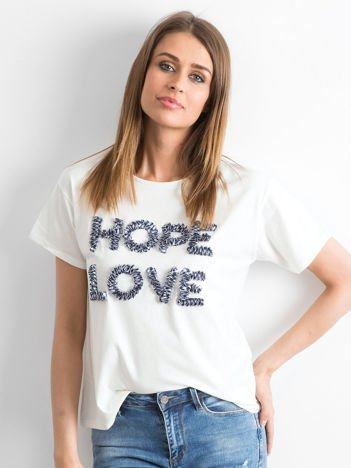 Ecru t-shirt Hoppin