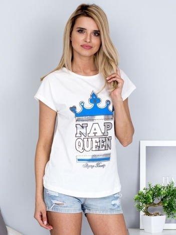 Ecru t-shirt NAP QUEEN