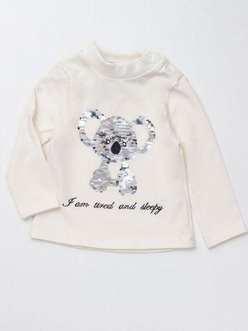 Ecu bluzka dla dziewczynki ze zdobieniem
