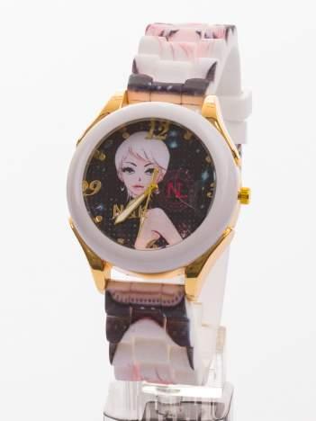 Ekstrawagancki damski zegarek z malowniczym motywem. Wyróżnij się!