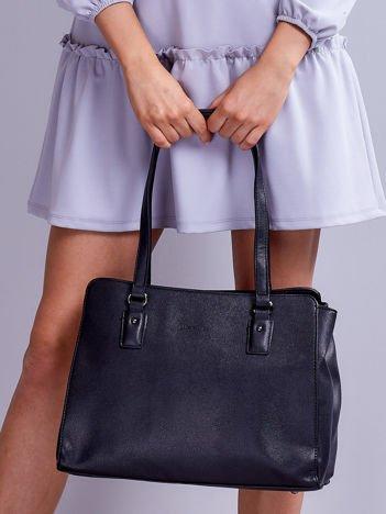 Elegancka trapezowa torebka na ramię czarna