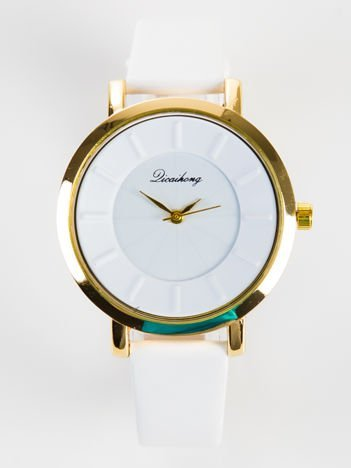 Elegancki biały zegarek damski