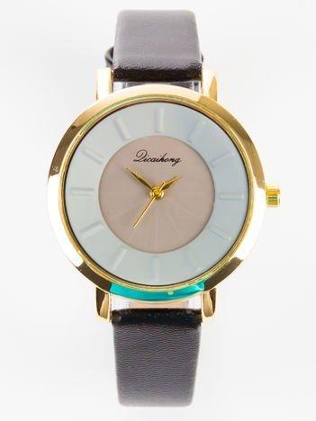 Elegancki czarny zegarek damski
