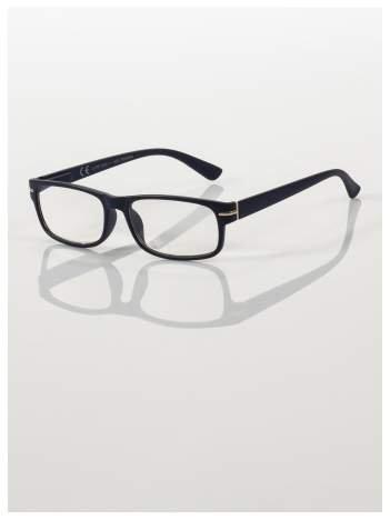 Eleganckie czarne matowe korekcyjne okulary do czytania +2.5 D  z sytemem FLEX na zausznikach