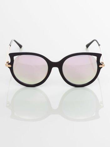 Eleganckie okulary przeciwsłoneczne lustrzanki KOCIE OCZY
