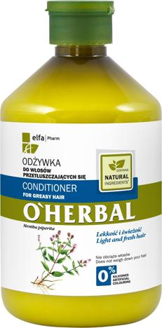 Elfa Pharm O'Herbal Odżywka do włosów przetłuszczających z miętą 500 ml