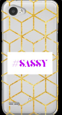 Etui do telefonu LG Q6 Sassy Geometric