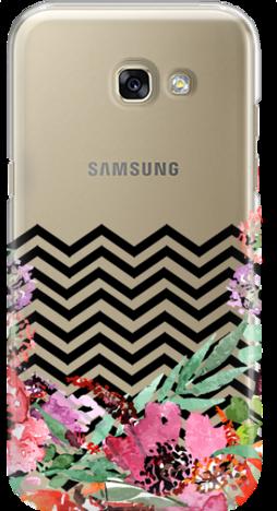Etui do telefonu Samsung Galaxy A3 2017 Flowers & Zigzags