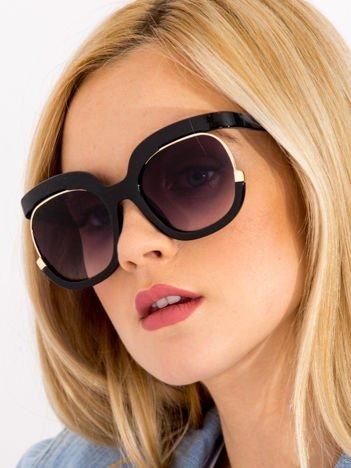 FANDIA Okulary damskie słoneczne CELEBRYTKI czarne