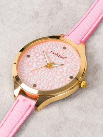 FASHION Delikatny zegarek damski z koronką na tarczy