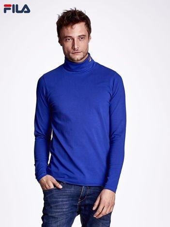 FILA Niebieska bluzka męska z golfem