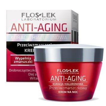 FLOSLEK ANTI-AGING Kuracja Hialuronowa Krem przeciwzmarszczkowy na noc 30+ 50 ml
