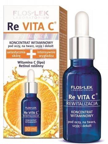 FLOSLEK ReVITA C Koncentrat witaminowy pod oczy, na twarz, szyję i dekolt 30 ml