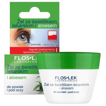 FLOSLEK Żel ze świetlikiem lekarskim  i aloesem do powiek i pod oczy 10 g