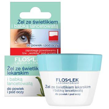 FLOSLEK Żel ze świetlikiem lekarskim  i babką lancetowatą do powiek i pod oczy 10 g