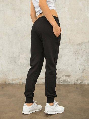 FOR FITNESS Czarne spodnie dresowe Citylight