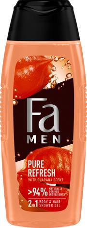 "Fa Men Pure Refresh Żel pod prysznic 2w1  - Guarana Scent  400ml"""