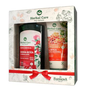 """Farmona Zestaw prezentowy Herbal Care (Kąpiel odżywcza Dzika Róża 500ml+balsam Oliwka 200ml)"""""""
