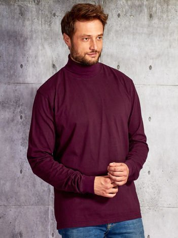 Fioletowa bluzka męska z golfem