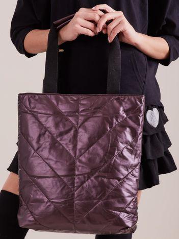 Fioletowa pikowana torba