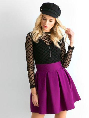 Fioletowa rozkloszowana spódnica