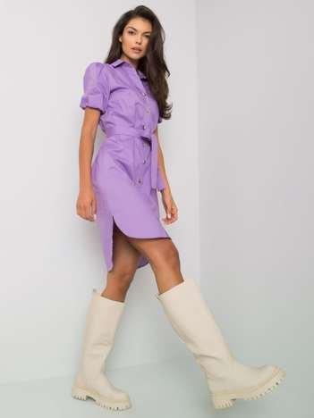 Fioletowa sukienka rozpinana Yuval