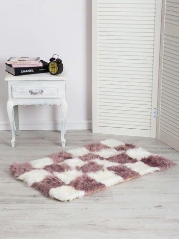 Fioletowo-biały dywan shaggy