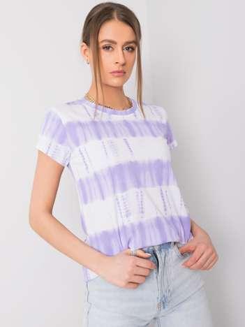 Fioletowo-biały t-shirt Gianna