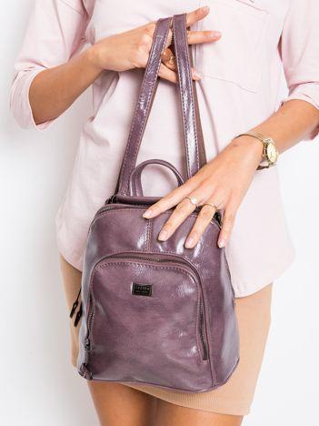 Fioletowy plecak damski ze skóry ekologicznej