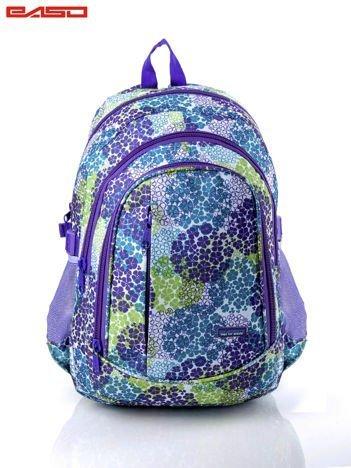 Fioletowy plecak w drobny kwiatowy wzór