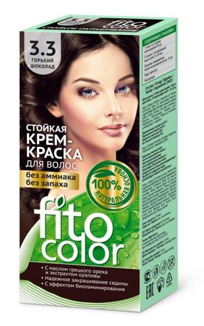 Fitocosmetics Fitocolor Naturalna Farba-krem do włosów nr 3.3 gorzka czekolada
