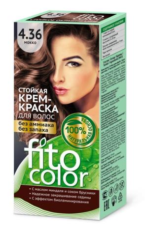 Fitocosmetics Fitocolor Naturalna Farba-krem do włosów nr 4.36 mokka