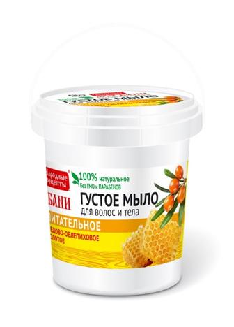 Fitocosmetics Przepisy Ludowe Gęste mydło do ciała i włosów miodowo-rokitnikowe odżywcze 155 ml