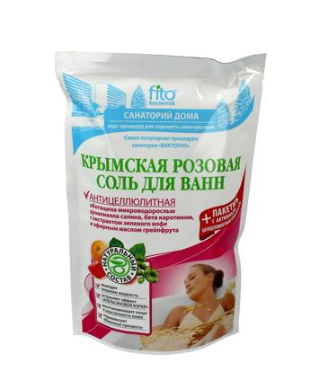 Fitocosmetics Sól do kąpieli krymska różowa antycellulitowa 530 g